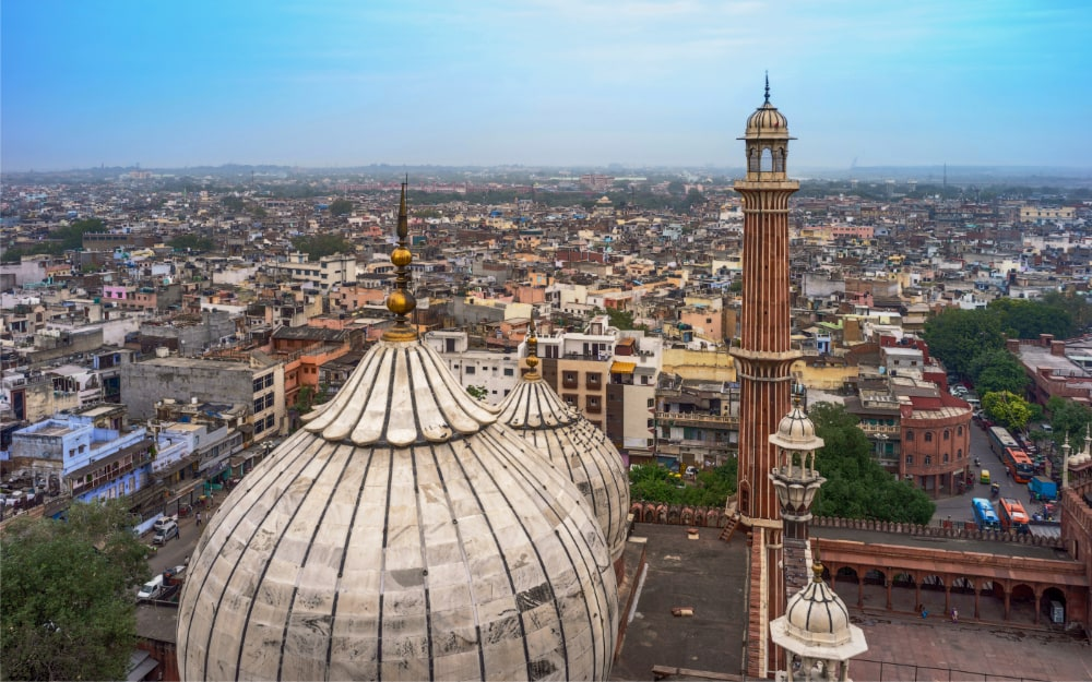 View from Jama Masjid mosque in Delhi