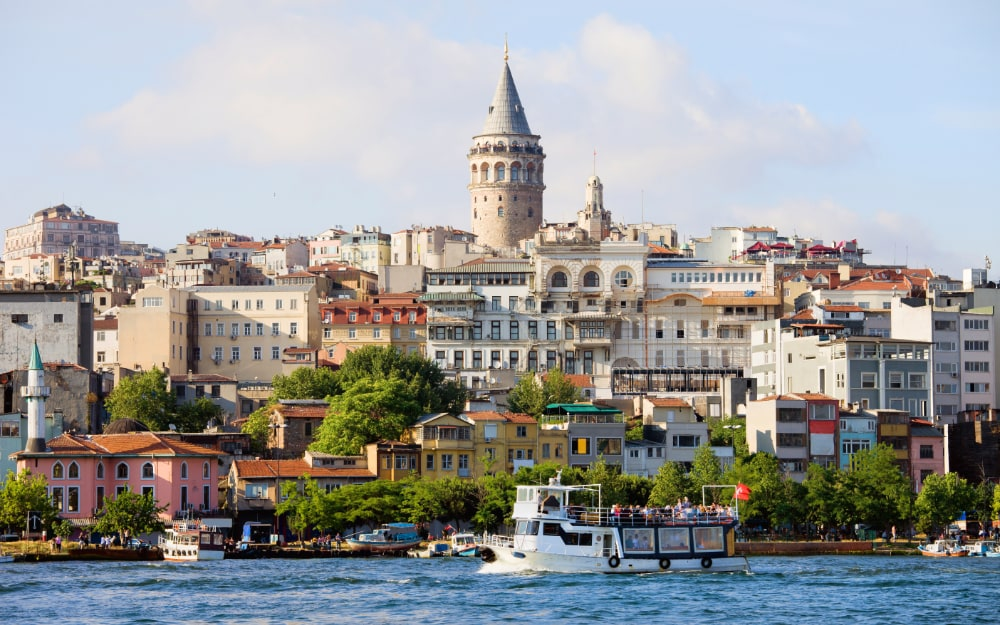 View of Galata district of Istanbul